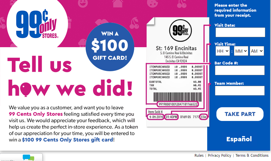 99 Cents Only Stores Survey