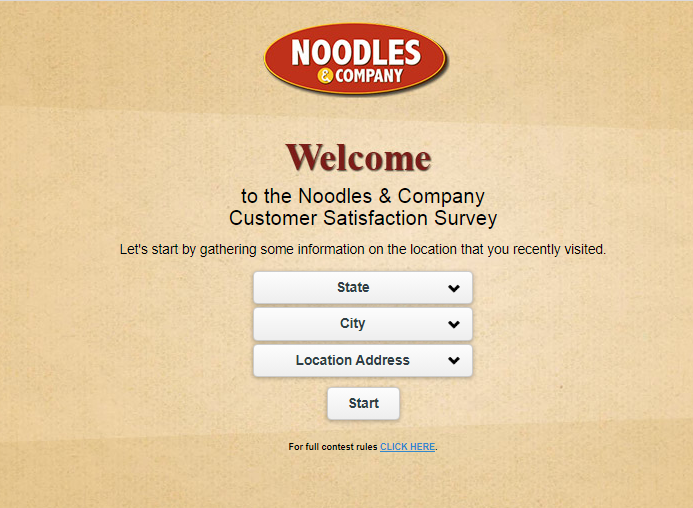 noodles and company survey code